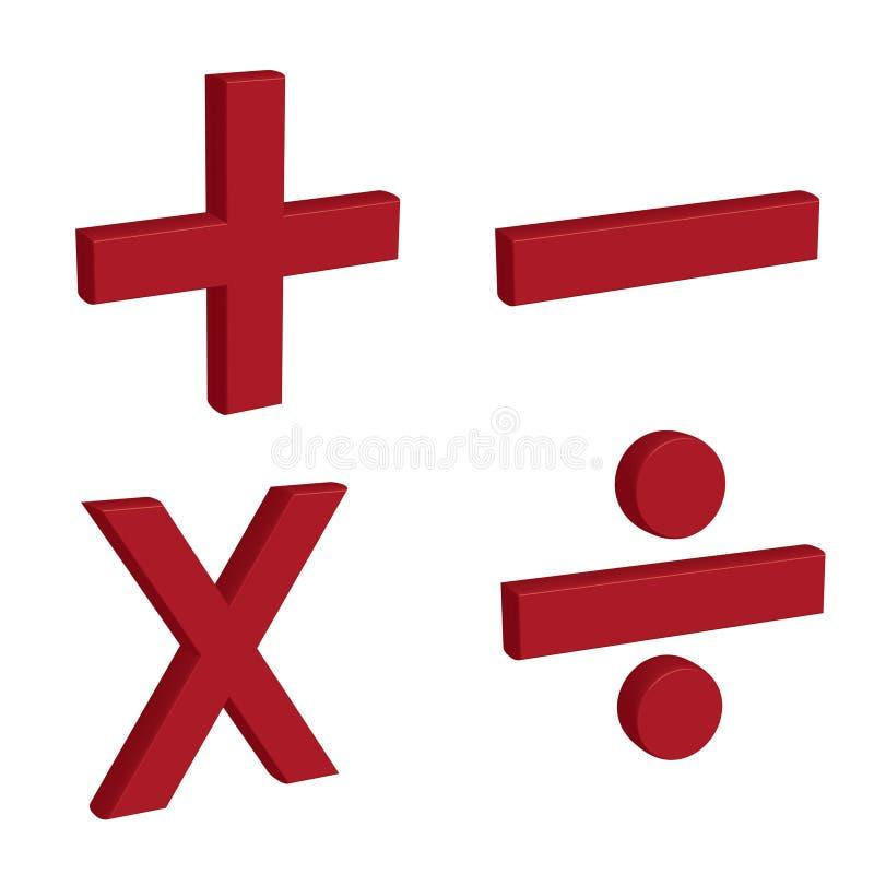 Símbolos aritméticos ilustração royalty free