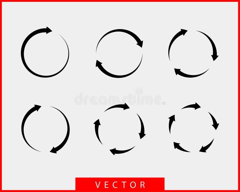Símbolos blancos y negros del fondo del vector de las flechas de la colección libre illustration