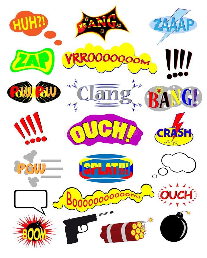 Símbolos cómicos ilustração do vetor