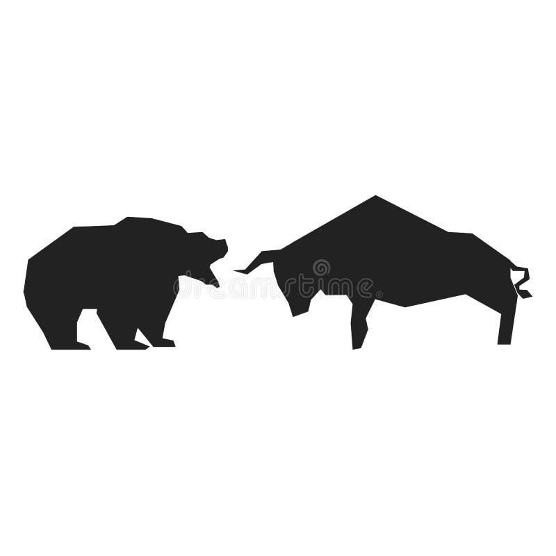 Símbolos com tendência para a alta e bearish ilustração royalty free