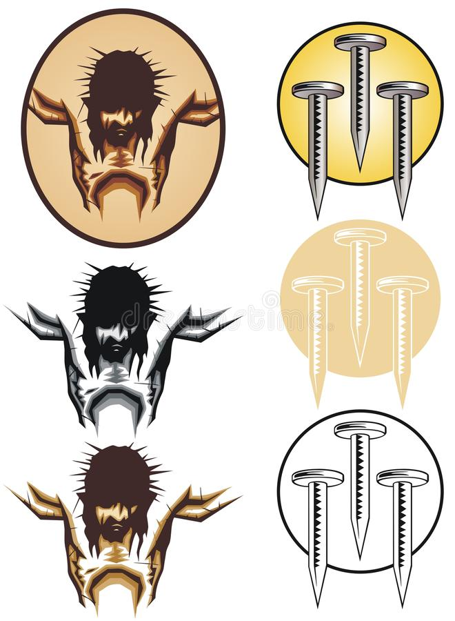 Símbolos cristãos ilustração do vetor