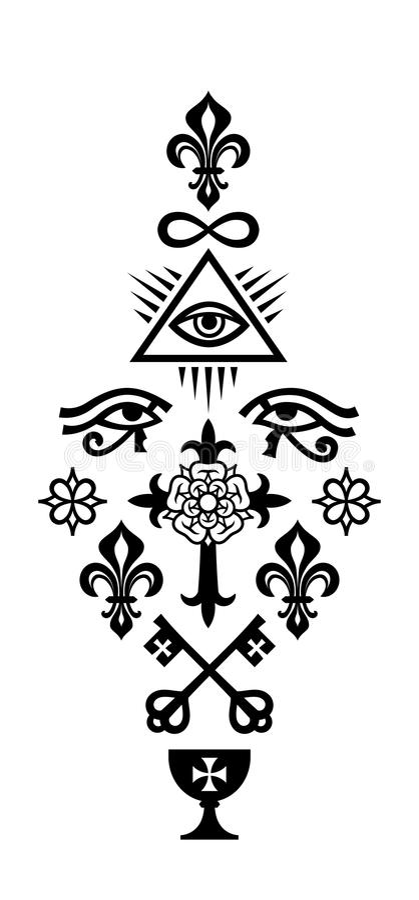 Símbolos CRISTÃOS da COLUNA da fé ilustração do vetor