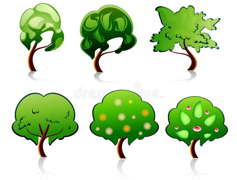 Símbolos da árvore ilustração royalty free
