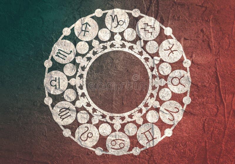 Símbolos da astrologia no círculo imagens de stock royalty free