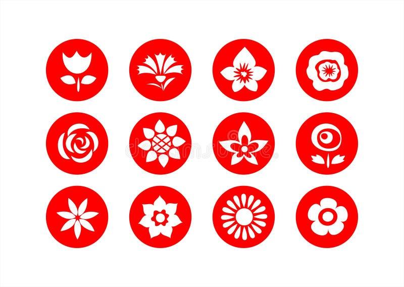 Símbolos da flor ilustração royalty free