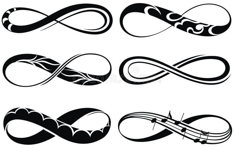 Símbolos da infinidade ilustração royalty free