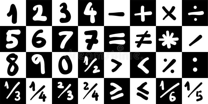 Símbolos da matemática ilustração stock