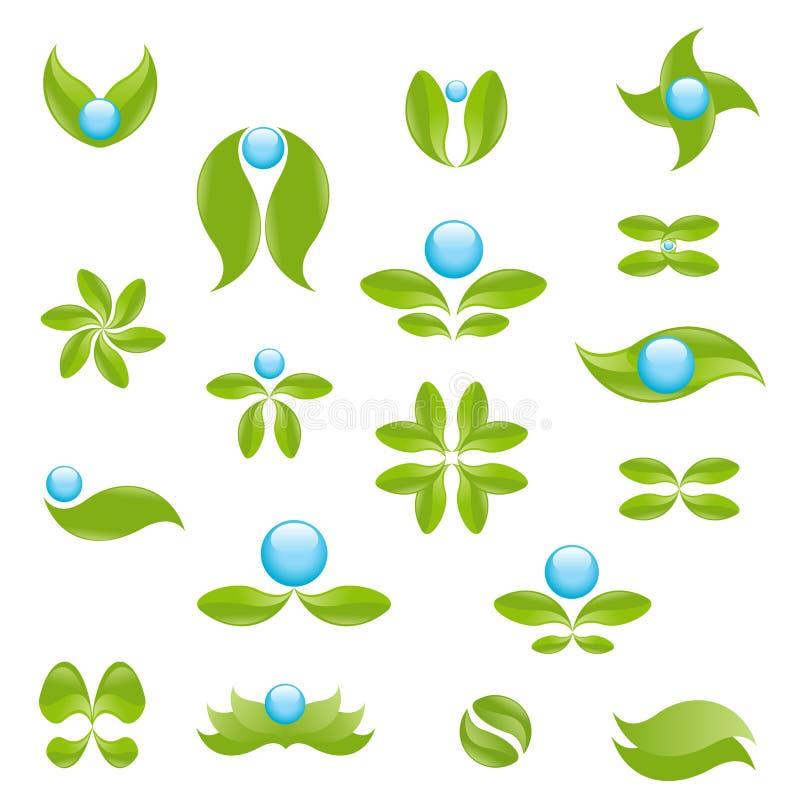 Símbolos da natureza ilustração do vetor