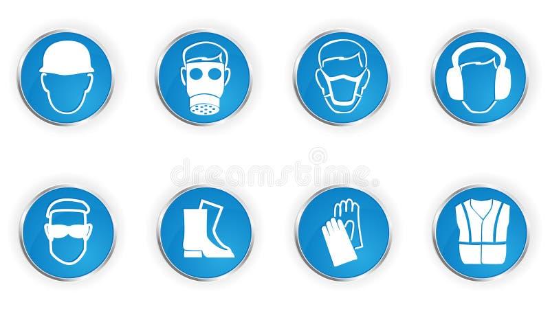 Símbolos da segurança ilustração royalty free
