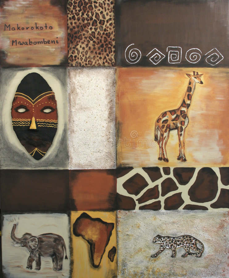 Símbolos de África fotografía de archivo