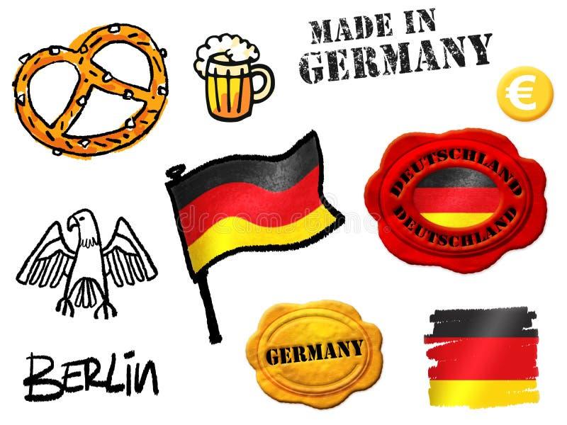 Símbolos de Alemania stock de ilustración