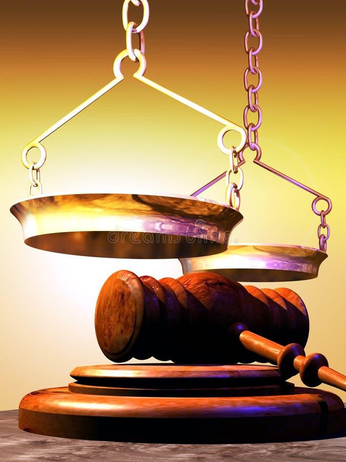 Símbolos de justiça ilustração stock