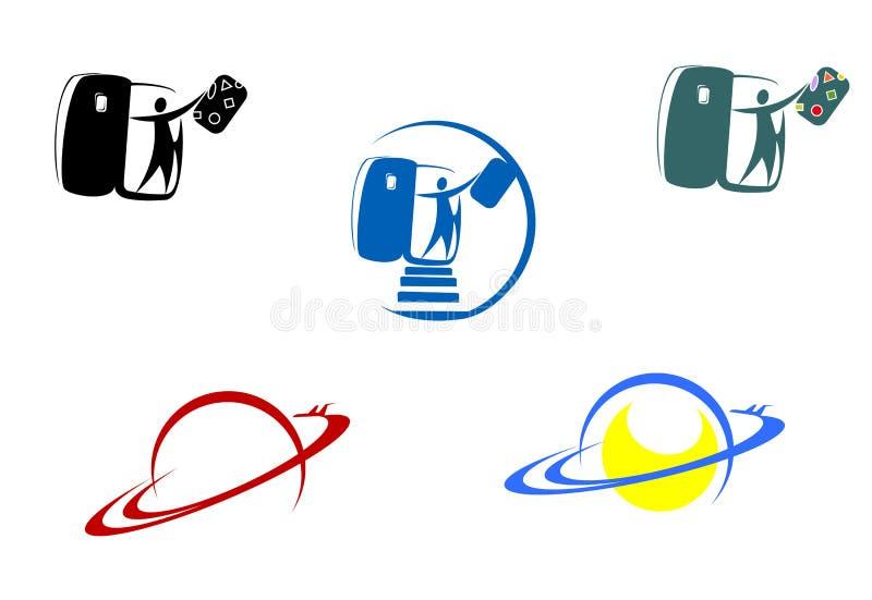Símbolos de la aviación y del recorrido ilustración del vector