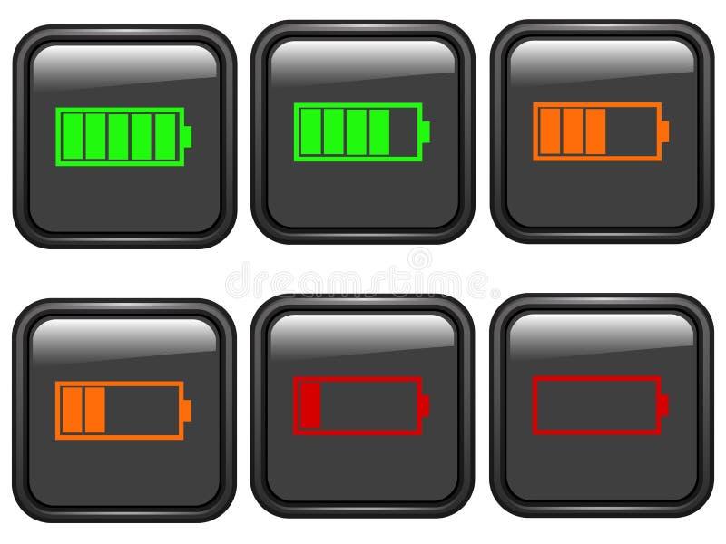 Símbolos de la batería libre illustration