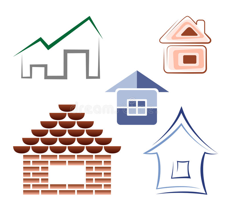 Símbolos de la casa stock de ilustración