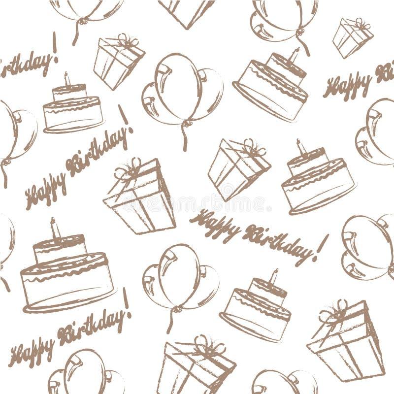 Símbolos de la celebración del cumpleaños libre illustration
