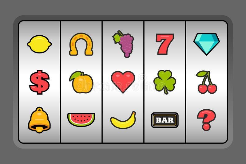 Símbolos de la máquina tragaperras libre illustration