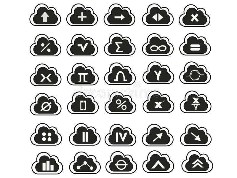 Símbolos de la matemáticas fotografía de archivo libre de regalías