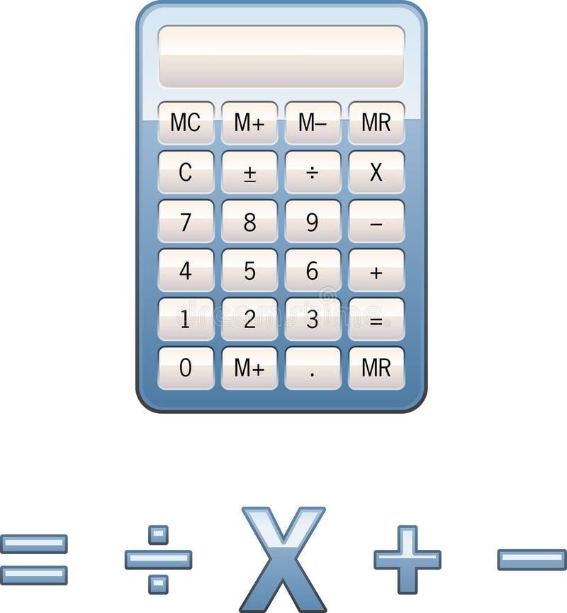 Símbolos De La Matemáticas De La Calculadora Stock de ilustración ...