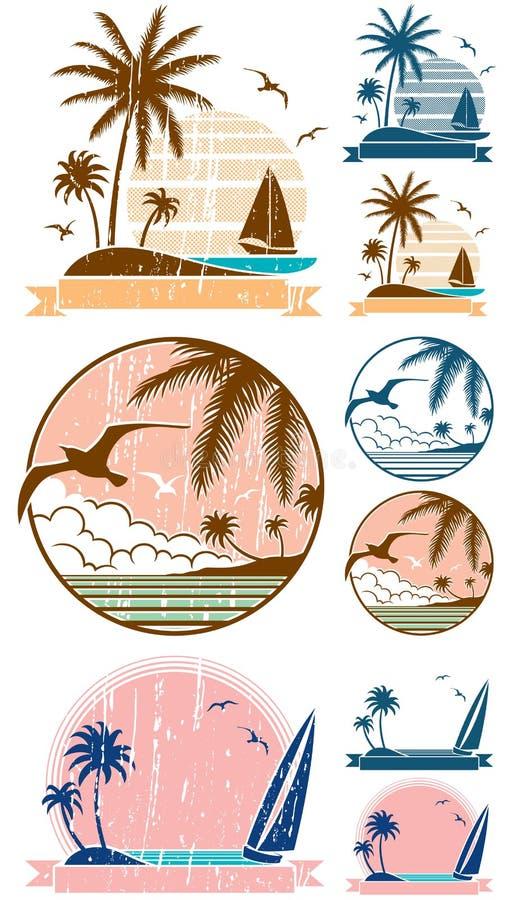 Símbolos de la playa libre illustration