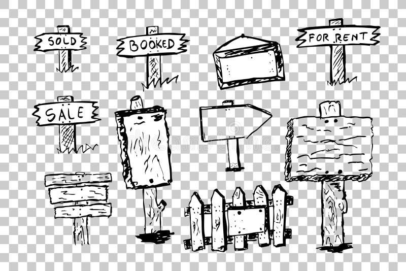Símbolos de la propiedad del negocio ilustración del vector