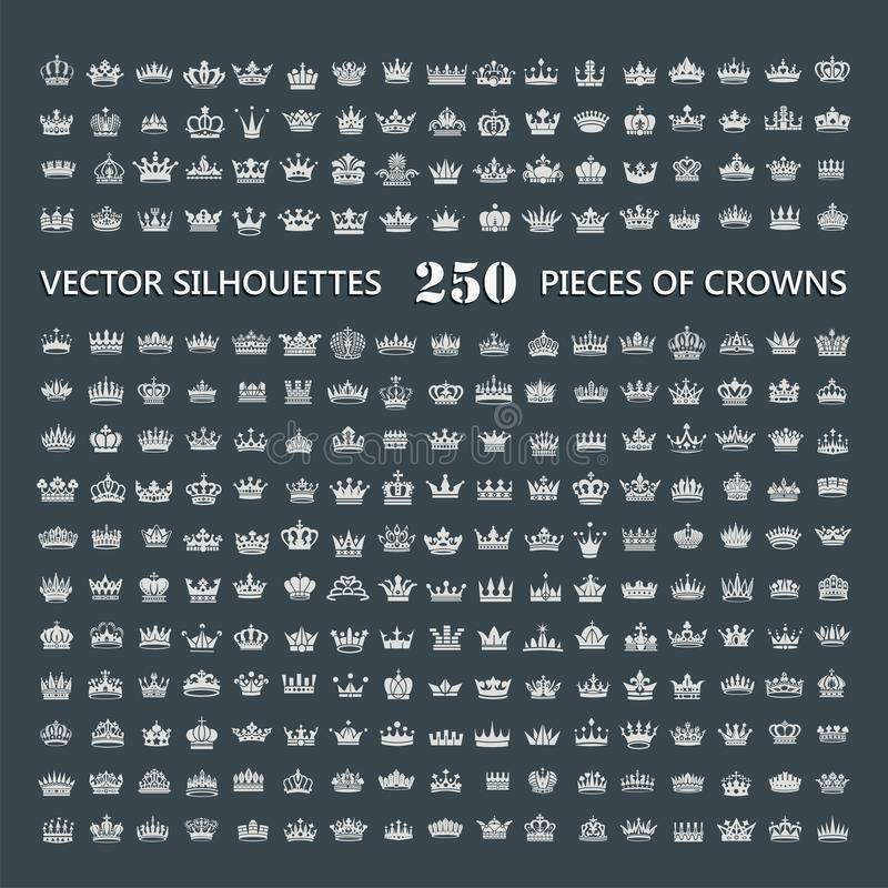Símbolos de las coronas del rey y de la reina libre illustration