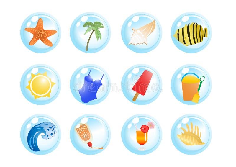 Símbolos De Las Vacaciones Imagen de archivo libre de regalías