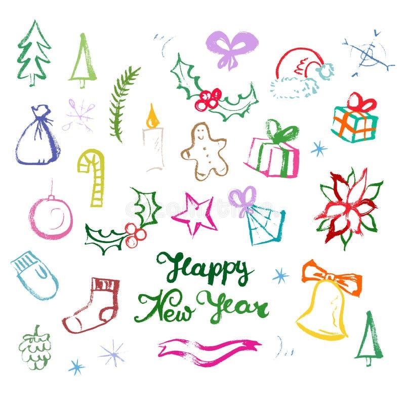 Símbolos de las vacaciones de invierno libre illustration