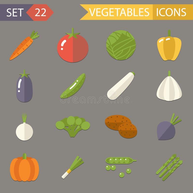 Símbolos de las verduras sanos y comida de Healthsome stock de ilustración