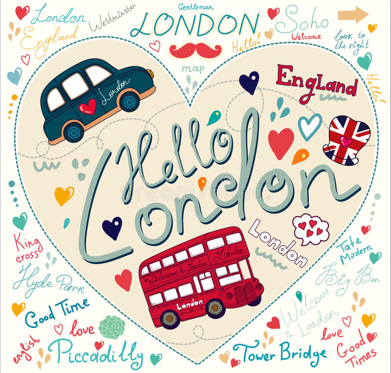Símbolos de Londres stock de ilustración