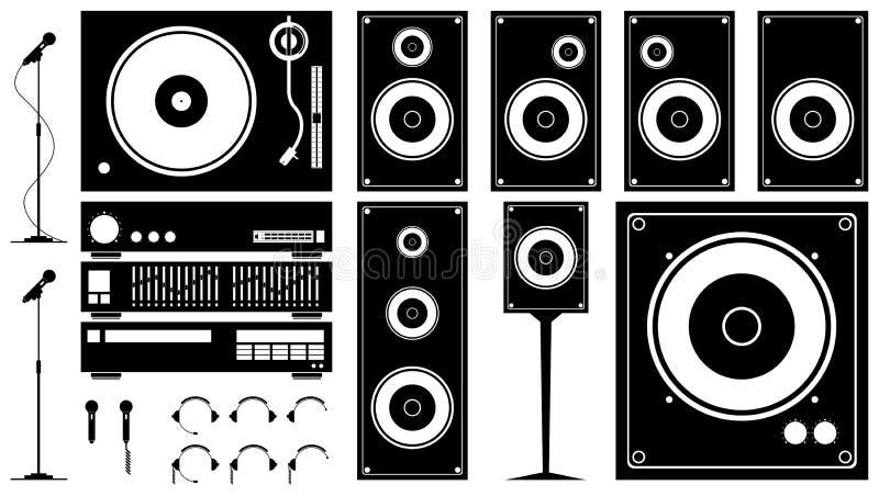 Símbolos de música 02 ilustração stock