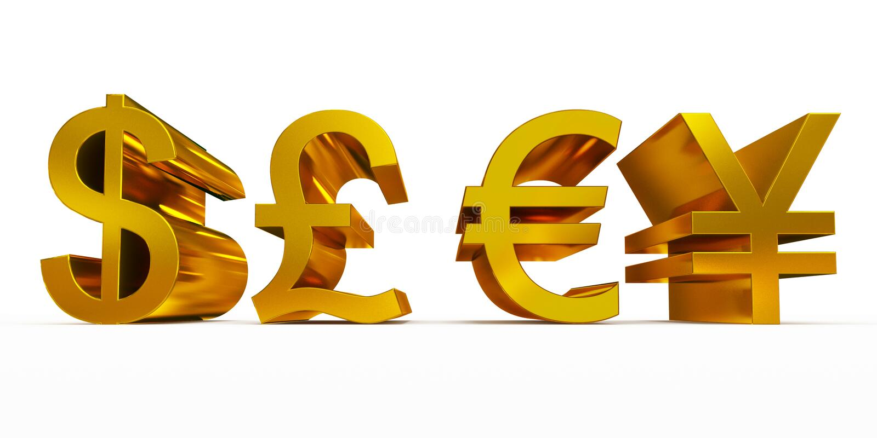 Símbolos de moneda libre illustration