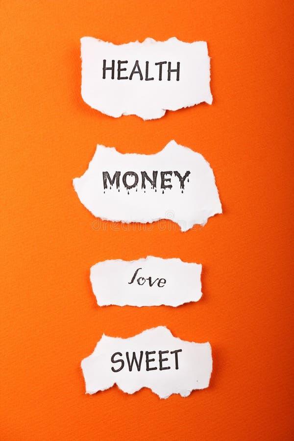 Símbolos de papel fotografia de stock royalty free