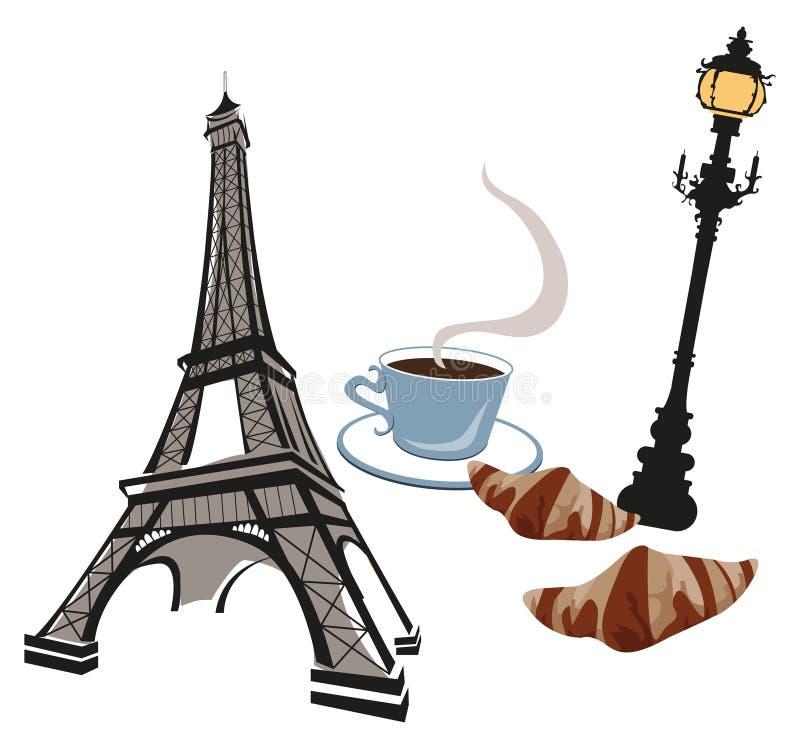 Símbolos de París ilustración del vector