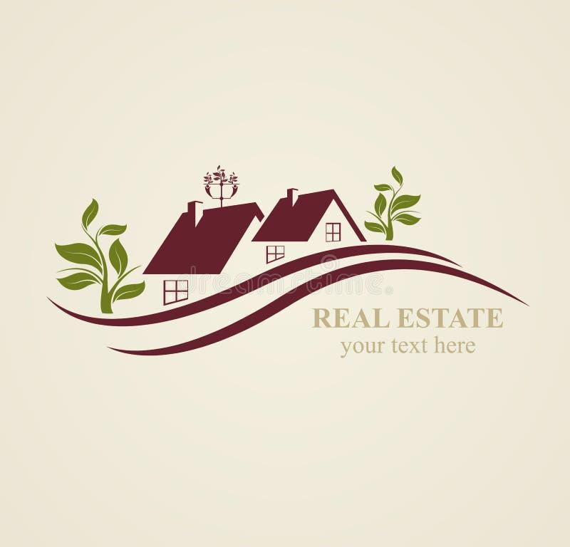 Símbolos de Real Estate para fins comerciais ilustração royalty free