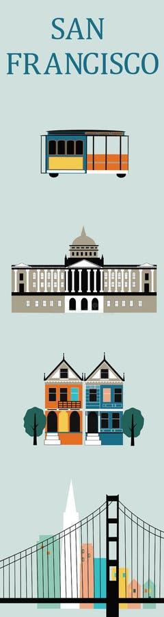 Símbolos de San Francisco. ilustração do vetor
