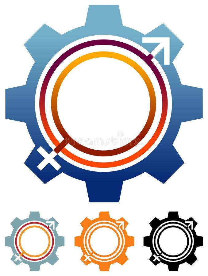 Símbolos de sexo ligados ilustração stock