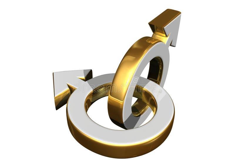 Símbolos de sexo masculinos ilustración del vector