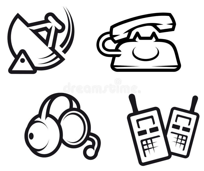 Símbolos de uma comunicação ilustração stock