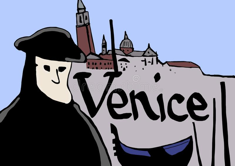 Símbolos de Veneza ilustração do vetor