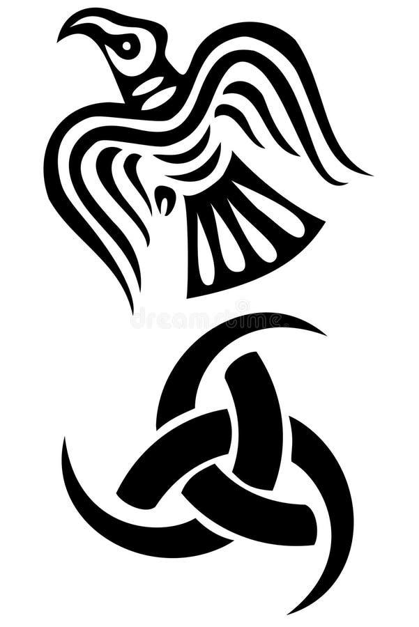 Símbolos de Vikingo stock de ilustración