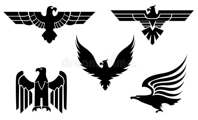 Símbolos del águila stock de ilustración