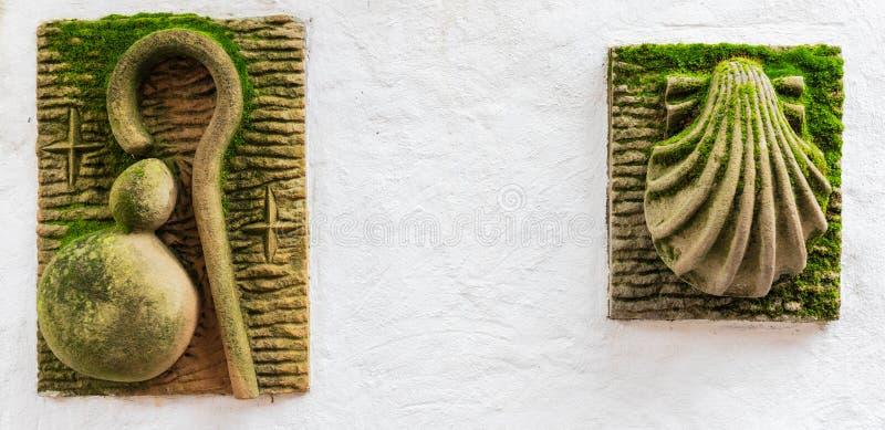 Símbolos del camino de Santiago fotografía de archivo libre de regalías