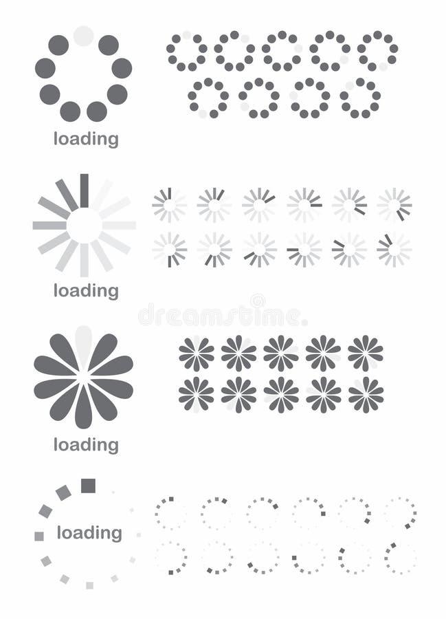 Símbolos del cargamento ilustración del vector