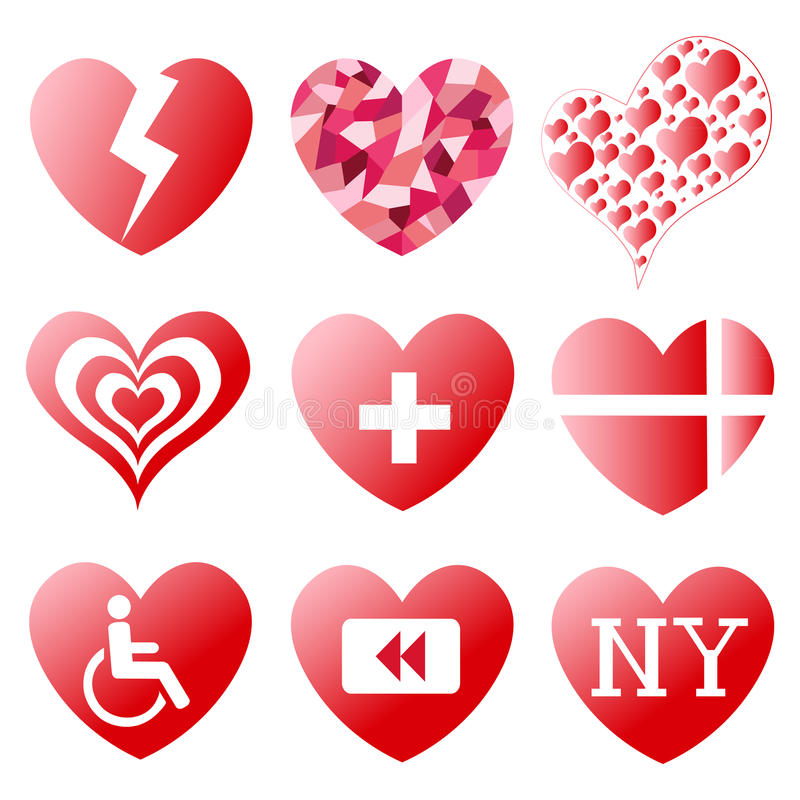 símbolos del corazón ilustración del vector - imagen: 41860501