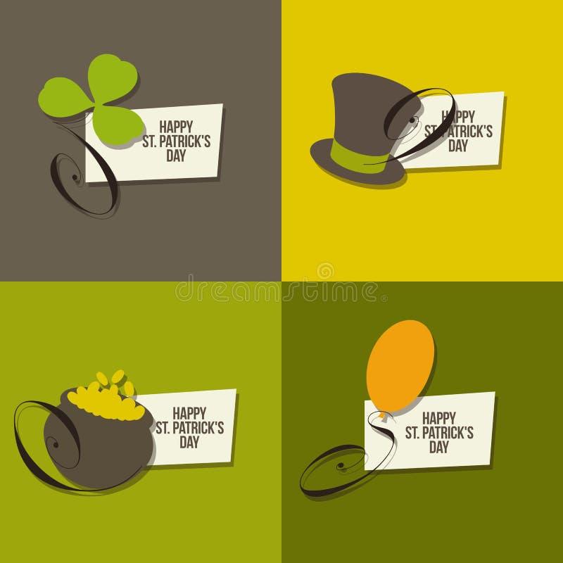 Símbolos del día del St. Patricks. Conjunto de vectores libre illustration