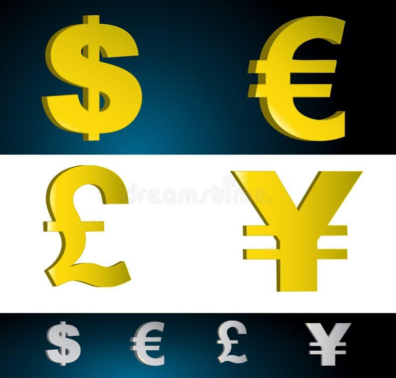 Símbolos del dinero libre illustration