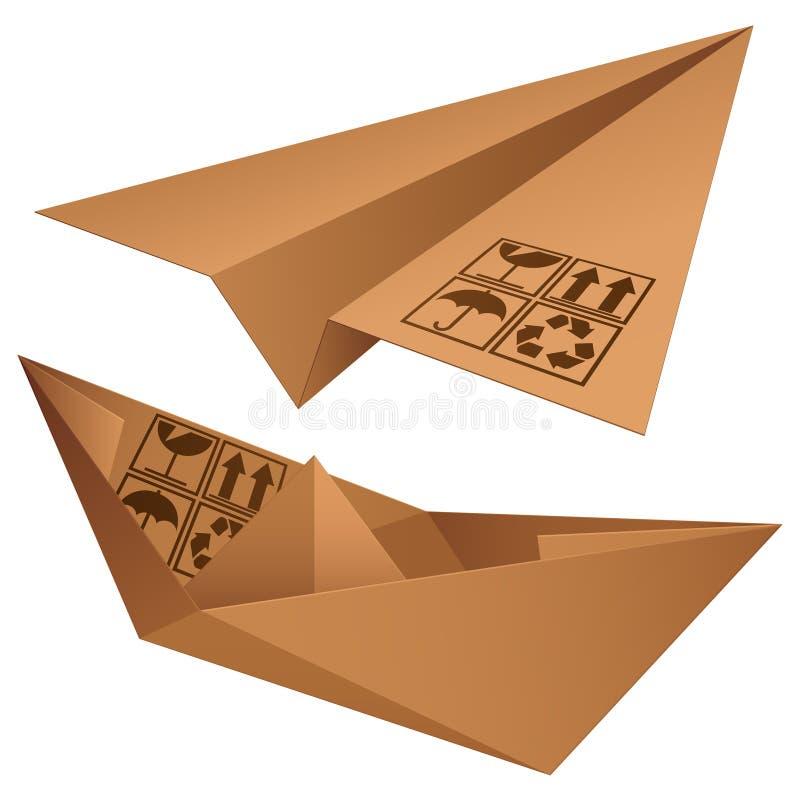 Símbolos del envío. ilustración del vector