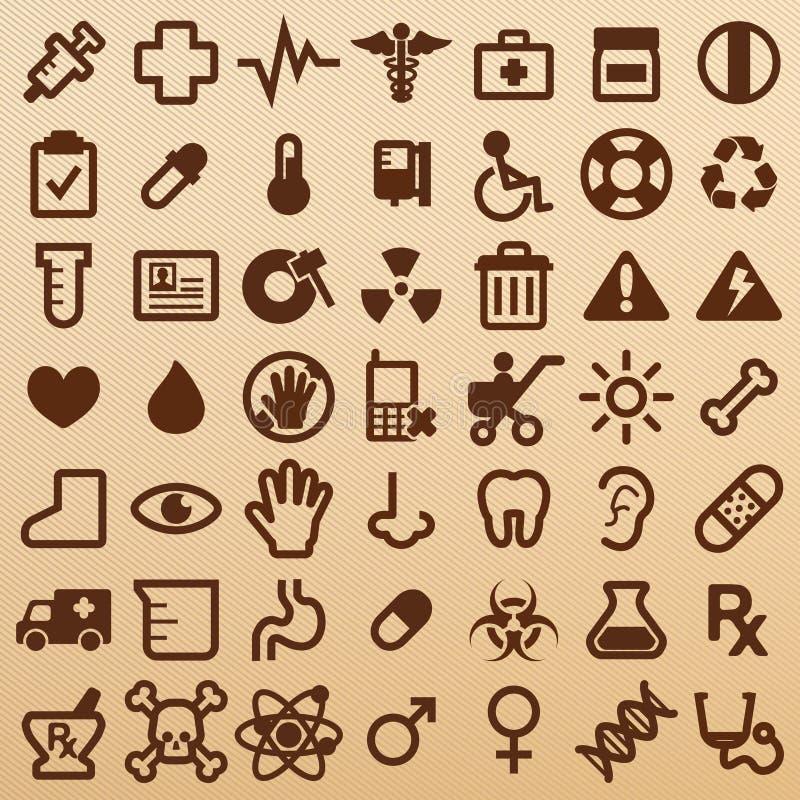 Símbolos del hospital ilustración del vector