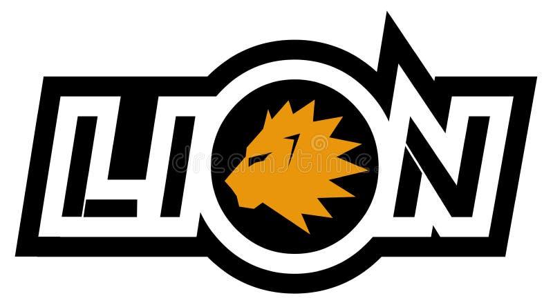 Símbolos del león stock de ilustración
